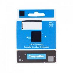 PRINTLINE kompatibilní páska s DYMO, 45020 S0720600, 12mm,7m, bílý tisk/trans. podklad, D1