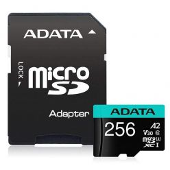 ADATA Premier Pro 256GB microSDXC karta, UHS-I U3 A2, 100R/80W + adaptér