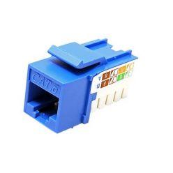 Keystone konektor kat. 6, nestíněný, modrý