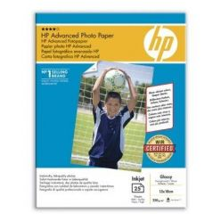 HP Advanced Glossy Photo Paper, 13x18cm, lesklý, 250g, 25 listů