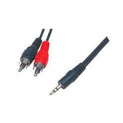 Kabel jack 3,5M - 2x cinch(M), 1,5m