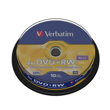 Verbatim DVD+RW Matt Silver, 4.7GB, 4x, 10ks, spindle