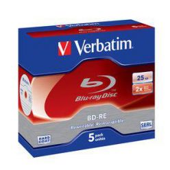 Verbatim BD-RE, 25GB, 2x, 5ks, jewel case