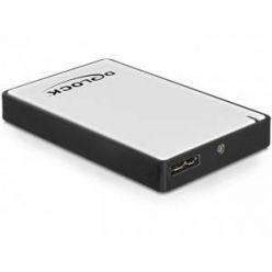 "Delock 1.8"" externí box pro micro SATA HDD/SSD, USB 3.0, stříbrný"