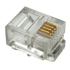 Konektor telefonní RJ-11 6p4c, 1ks