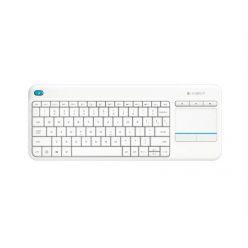 Logitech Wireless Touch Keyboard K400 Plus (CZ) bílá