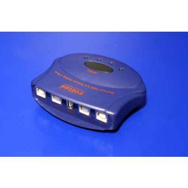 USB 2.0 přepínač 4:1, manuální, Roline