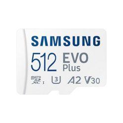 Samsung EVO Plus 512GB microSDXC karta, UHS-I U3 A2 + SD adaptér