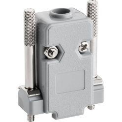 Goobay plastový kryt konektoru D9, D15HD, šedý, dlouhé šrouby
