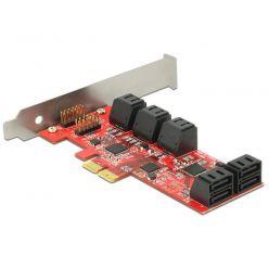 Delock interní SATA III řadič, 10x SATA port, low profile, PCIe