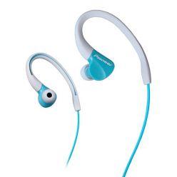 Pioneer závěsná sportovní sluchátka světle modrá