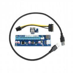 Gembird PCI-Express 1x riser prodlužovací adaptér po USB