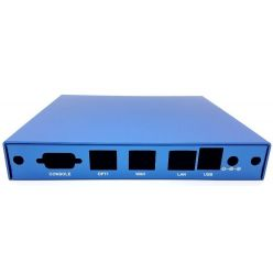 Montážní krabice CASE1D2BLUU, 3x LAN, 2x SMA, USB, modrá
