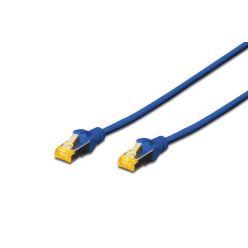 Digitus CAT 6A S-FTP patch kabel, měď, AWG 26/7, 1m, modrý
