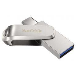 SanDisk Ultra Dual Drive Luxe USB-C 256GB, USB 3.0, stříbrný