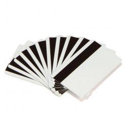 Zebra PVC karty, s magnetickým proužkem (HiCo), balení 500ks karet na potisk, bílá barva