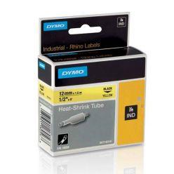 Dymo originální páska do tiskárny štítků, Dymo, 59422, S0721560, černý tisk/bílý podklad, 4m, 12mm, LetraTag plastová páska