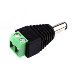 Konektor napájecí se svorkovnicí  DC - samec, konektor 5.5x2.1mm