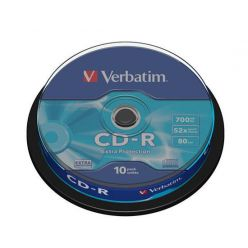 Verbatim CD-R Extra Protection, 700MB, 52x, 10ks, spindle