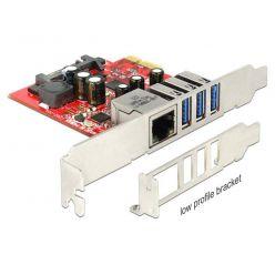 Delock gigabitová síťová karta s USB 3.0 řadičem, LowProfile, PCIe