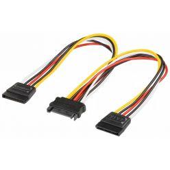 PremiumCord Napájecí kabel k HDD Serial ATA - rozdvojka  M/2xF 16cm
