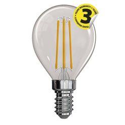 Emos LED žárovka MINI GLOBE, 4W/40W E14, NW neutrální bílá, 465 lm, Filament A++