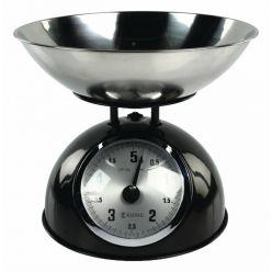 Kuchyňská váha KÖNIG HC-KS60BN, nerezová, retro provedení, černá