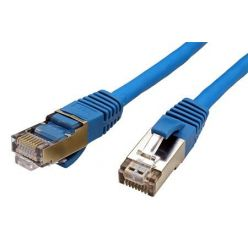 S/FTP patchkabel kat. 6, LSOH, 1,5m, modrý
