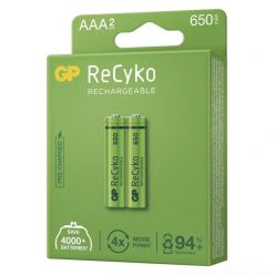 GP AAA ReCyko 650 series, nabíjecí, 2 ks PP