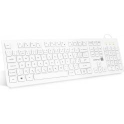 CONNECT IT kancelářská nízkoprofilová klávesnice, CZ, USB, bílá
