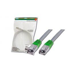 Digitus Patch Cable CROSS, FTP, CAT 5E, AWG 26/7, šedý/zelený, 1m