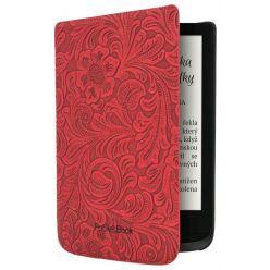 POCKETBOOK pouzdro pro Pocketbook 616, 627, 632/ červené (vzor květin)