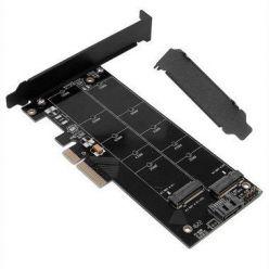 Redukce 2x M.2 (1x NVMe + 1x SATA) na PCIe-x4