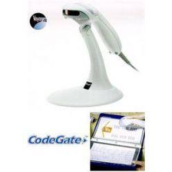 Metrologic MS9540 VoyagerCG, s tlačítkem CodeGate, stojánek, USB, světlý