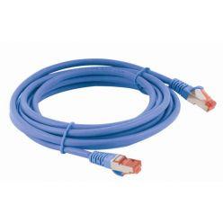 S/FTP patchkabel kat. 6, LSOH, 0,5m, modrý