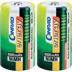 Conrad energy Endurance NiMH akumulátor, D, 8000mAh, 2ks