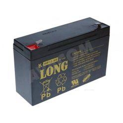 Baterie Long 6V 12Ah olověný akumulátor F1