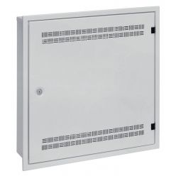 Solarix rozvaděč SOHO LC-18 do zdi s lištami 2U, 4U a 11U, 550x550x150mm, šedá RAL7035, s rámečkem k zazdění