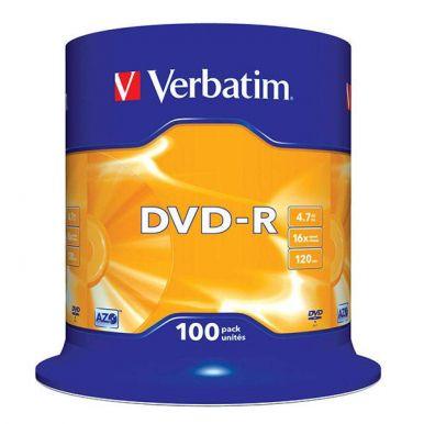 Verbatim DVD-R Matt Silver, 4.7GB, 16x, 100ks, spindle