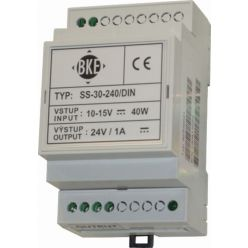 Spínaný DC/DC měnič na DIN lištu BKE SS-301-120/DIN 36-60V ->12V