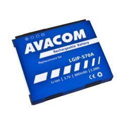 Náhradní baterie AVACOM do mobilu LG KP800 Li-Ion 3,7V 880mAh (náhrada LGIP-570A)