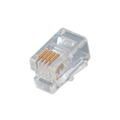 Konektor telefonní RJ-10 4p4c, sluchátkový, 1ks