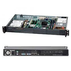 "Supermicro SC502L-200B mini1U 9,6""x9,6"" 35W cpu, 1HDD, 200W, černé"