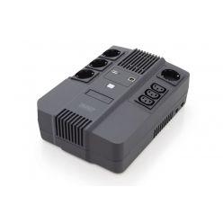 DIGITUS UPS 600VA/360W,LED 12V/7Ah x1, 4xCEE 7/7,3x IEC C13, USB, RJ45
