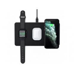 Satechi Trio nabíjecí podložka pro Apple Watch, Airpods, iPhone) - černá
