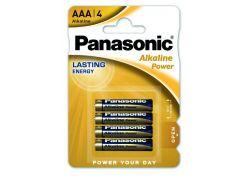 Panasonic Alkaline Power, AAA alkalické baterie, 4ks, blister