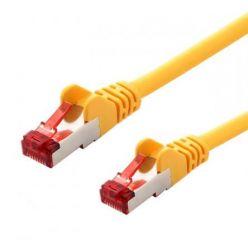 S/FTP patchkabel kat. 6, LSOH, 1m, žlutý