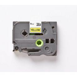 Páska TZE-621 (TZE621) kompatibilní pro Brother, 9mm, žlutá/černá, laminovaná, délka 8m