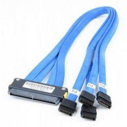 SFF-8484 -> 4×sATA 50cm kabel křížený (bez SGPIO)