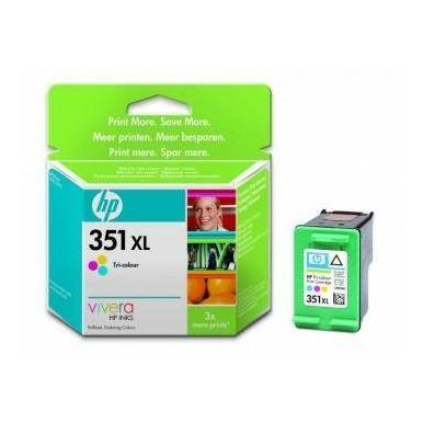 HP 351XL, tříbarevná inkoustová kazeta, 14ml, CB338EE
